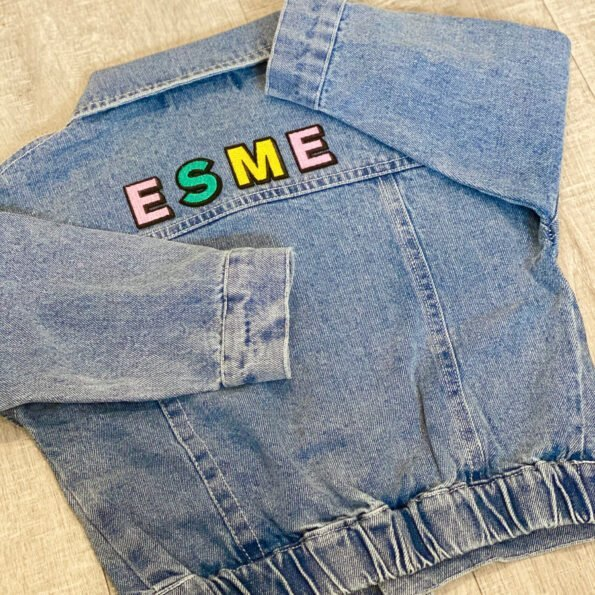 Oversized Denim Jacket (Back Only Personalisation)(1)