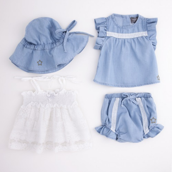 Baby Tencel Bloomer with Lace 3