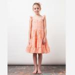 Checked Print Dress LS