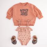 Pink fleece Sweater LS