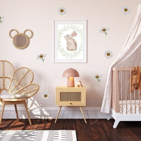 Daisy Bedroom Decals, Daisy Stickers, Daisy Decals